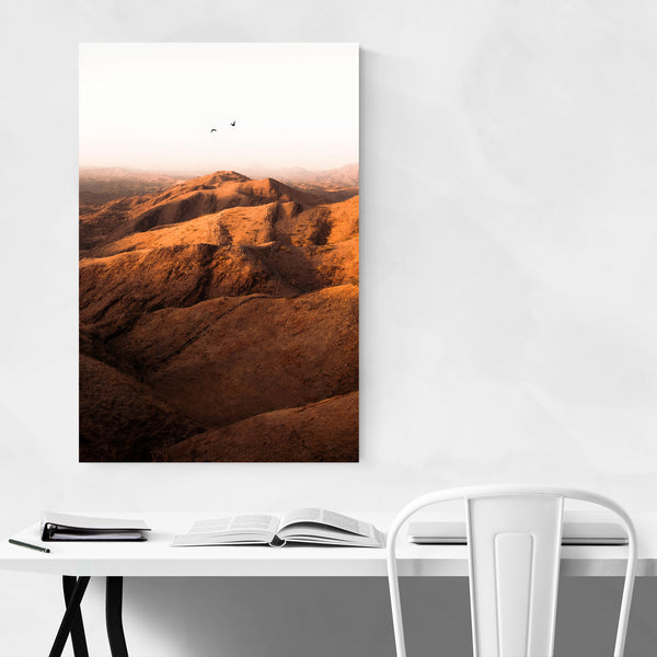Bird Mountain Nature Scenic Art Print