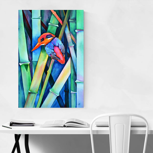 Animal Birds Feathers Fish Painting Art Print