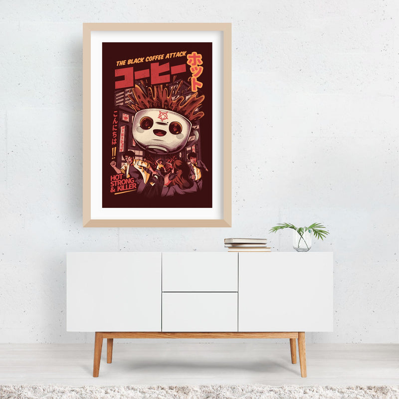 Coffee Kitchen Urban Illustration Framed Art Print