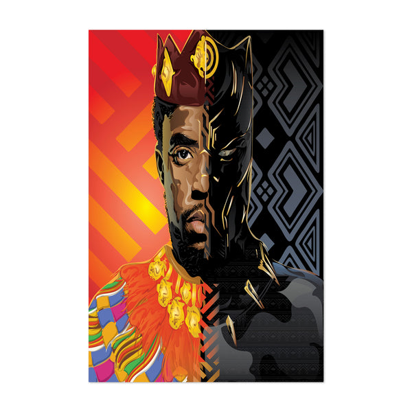 T'Challa Black Panther Portrait Art Print
