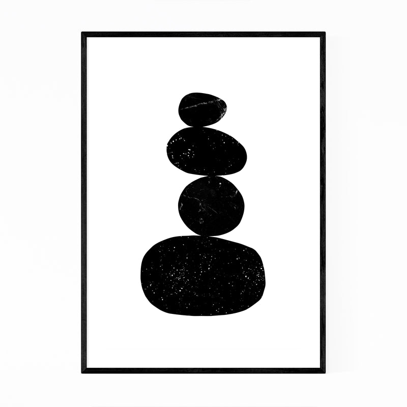 Abstract Minimal Organic Shapes Zen Framed Art Print
