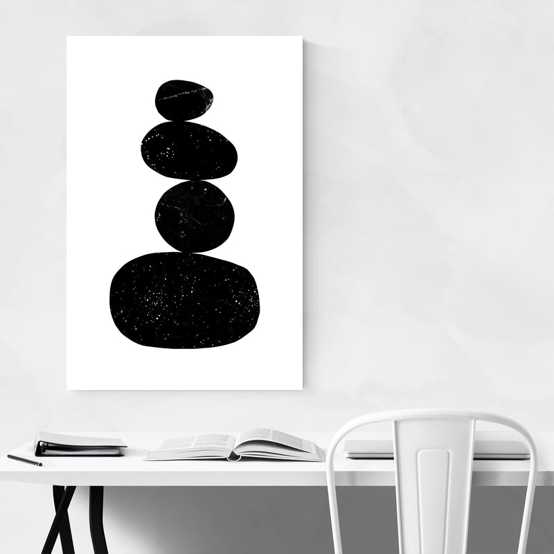Abstract Minimal Organic Shapes Zen Art Print