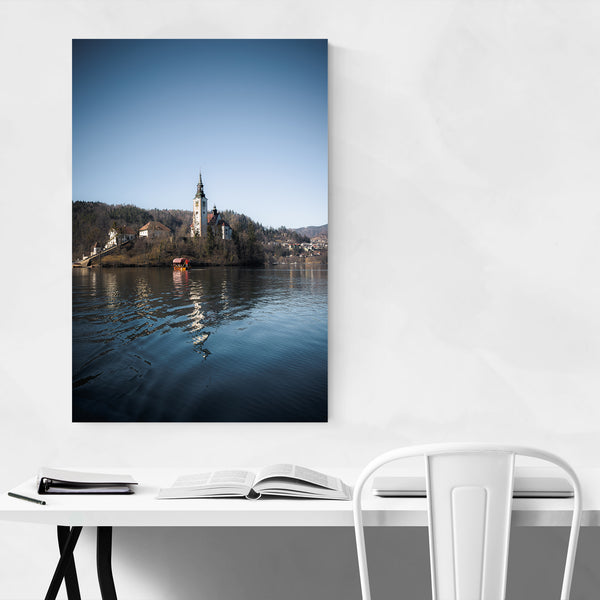 Lake Bled Castle Slovenia Nature Art Print