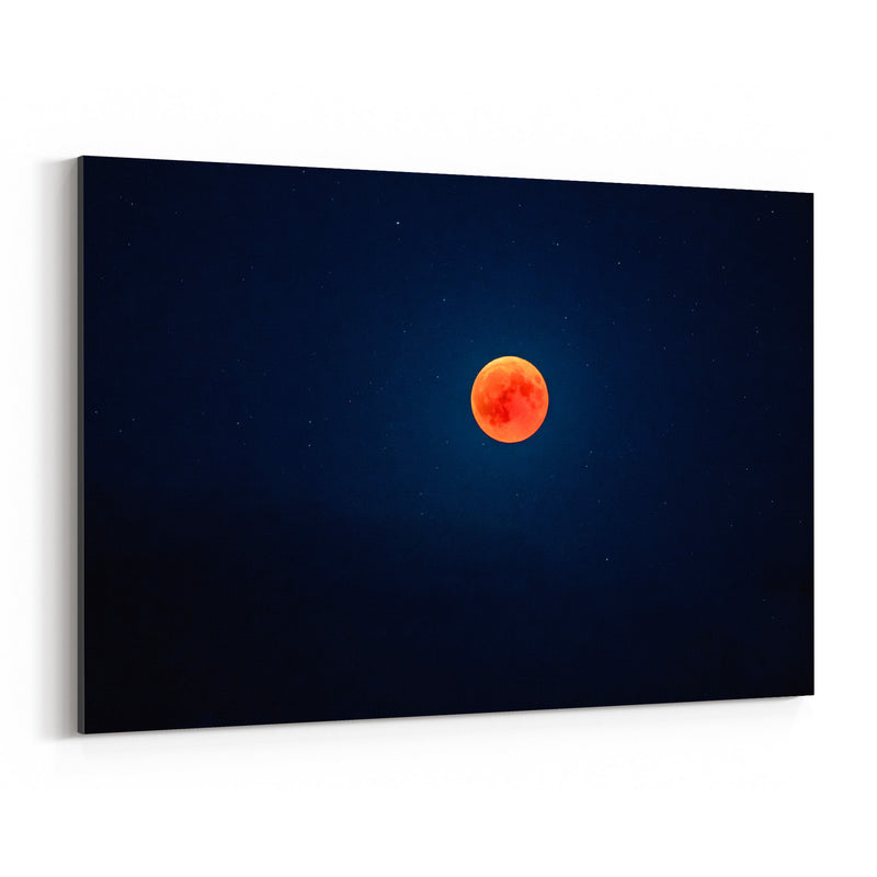 Blood Moon Nature Astronomy Canvas Art Print