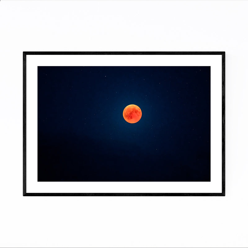 Blood Moon Nature Astronomy Framed Art Print