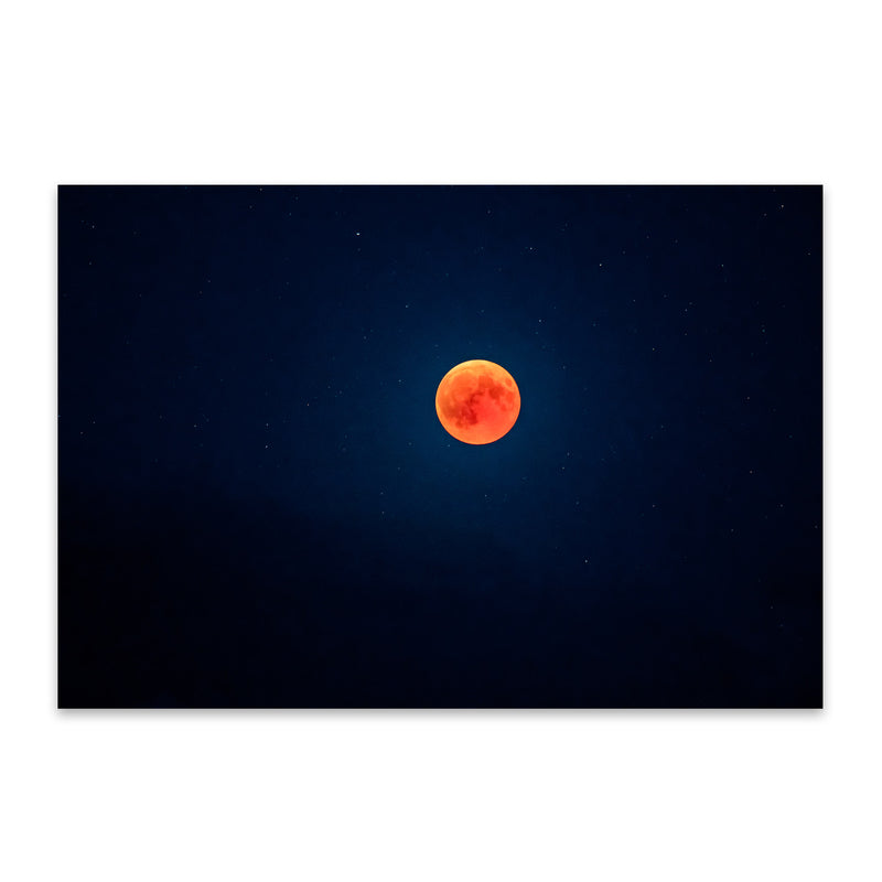 Blood Moon Nature Astronomy Metal Art Print