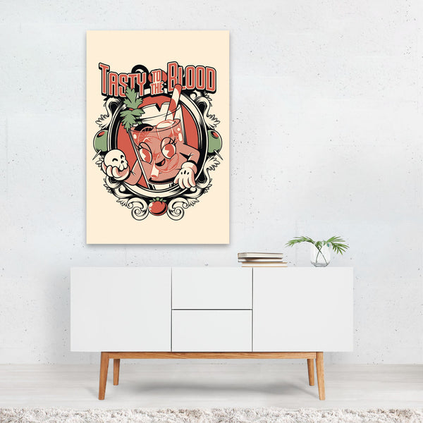 Alcohol Kitchen Illustration Art Print