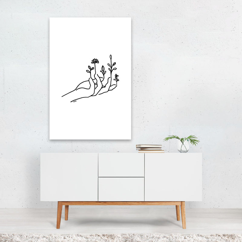 Floral Botanical Nature Line Drawing Art Print