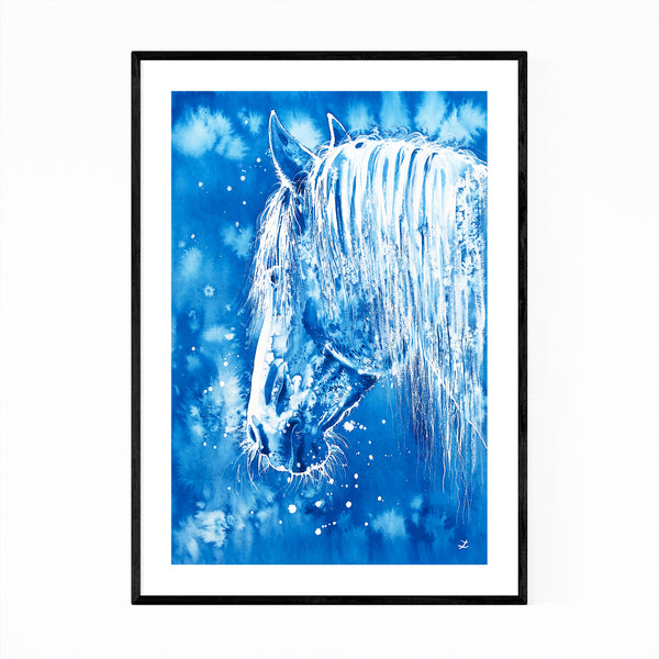 Animal Horse Painting Framed Art Print
