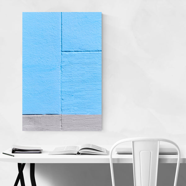 Blue Wall Minimal Abstract Paris Art Print
