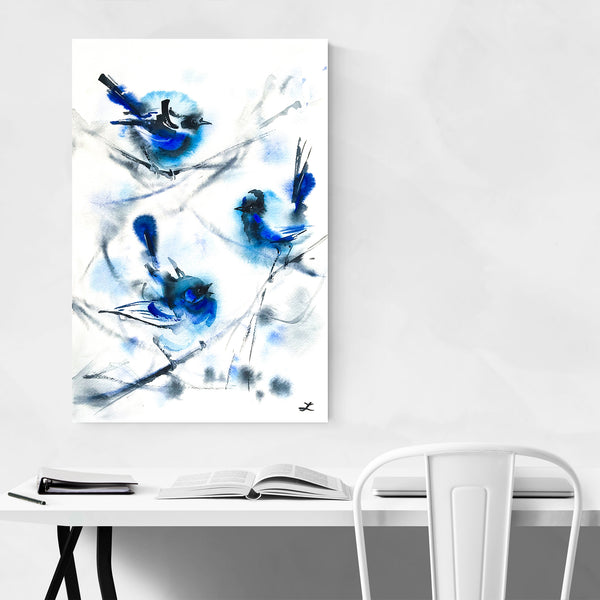 Birds Winter Wren Painting Art Print