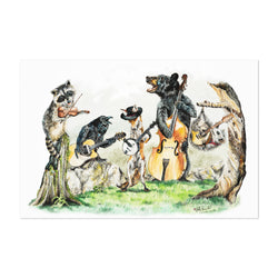 Cute Animals Bluegrass Band Art Print