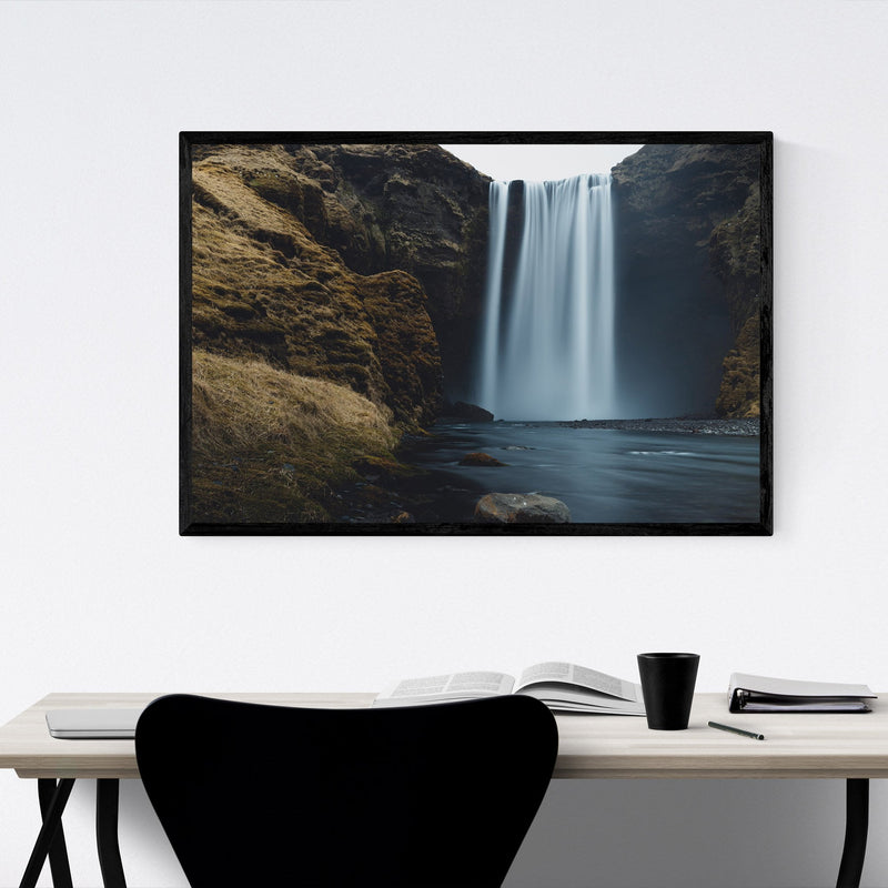 Skogafoss Waterfall Iceland Framed Art Print
