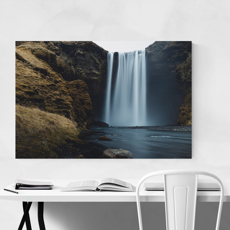 Skogafoss Waterfall Iceland Metal Art Print