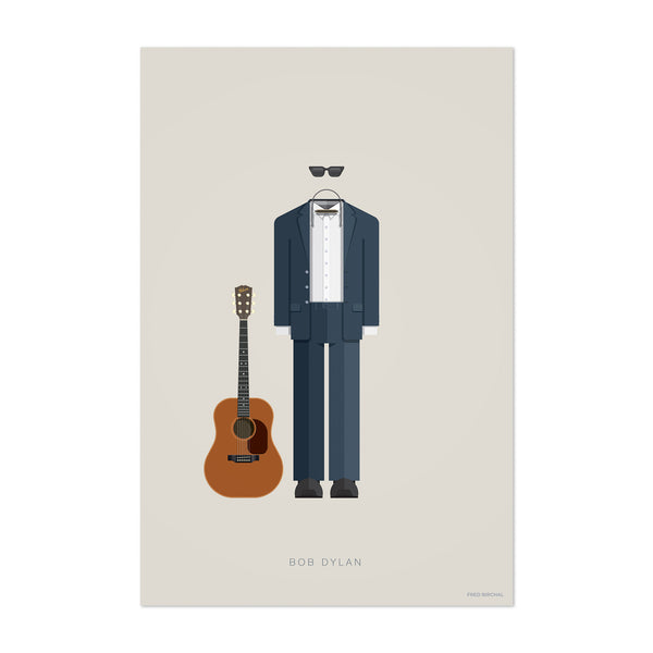 Bob Dylan Music Illustration Art Print