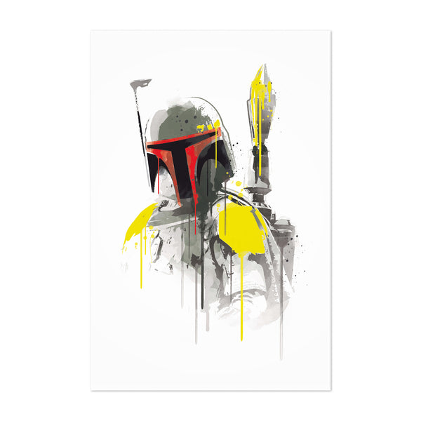 Boba Fett Star Wars Watercolor Art Print