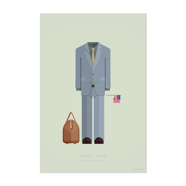 Borat Movie TV Illustration Art Print