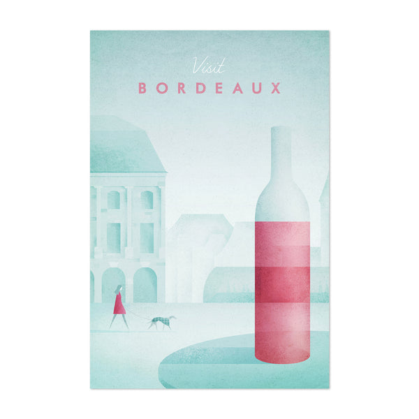 Bordeaux France Travel Poster Art Print