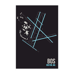 Boston Airport Code Poster Art Print