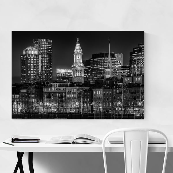 Boston Skyline Cityscape Photo Art Print