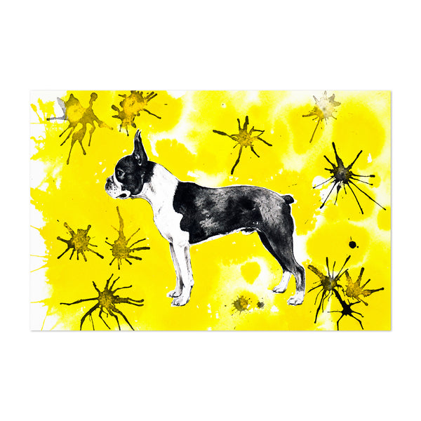 Animal Boston Terrier Dog Painting Art Print