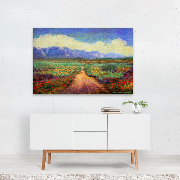 Cortez Colorado Floral Rural Photo Art Print