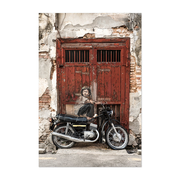George Town Malaysia Motorcycle Art Print