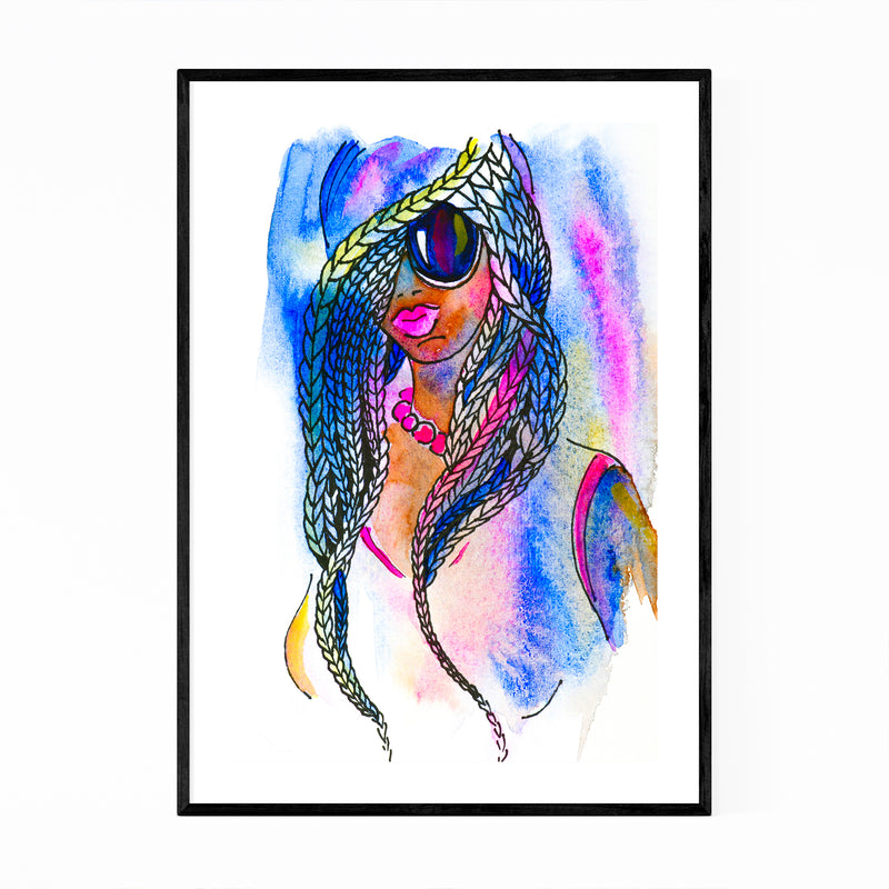 Feminine Figurative Painting Framed Art Print