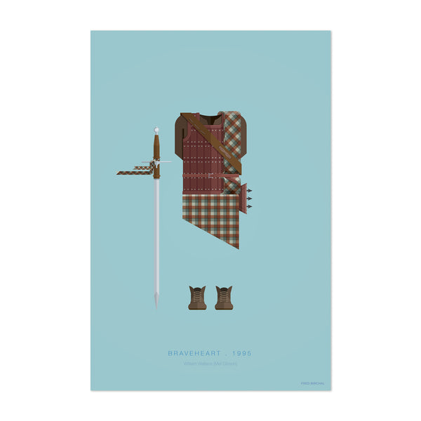 Braveheart Illustration Art Print
