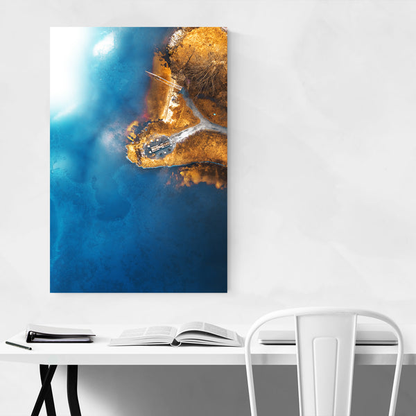 Haugesund Norway Aerial Nature Art Print