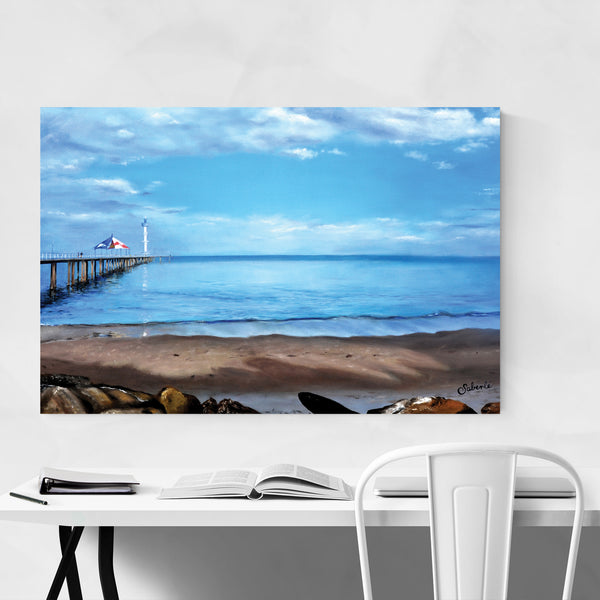 Brighton Beach Australia Oil Painting Art Print