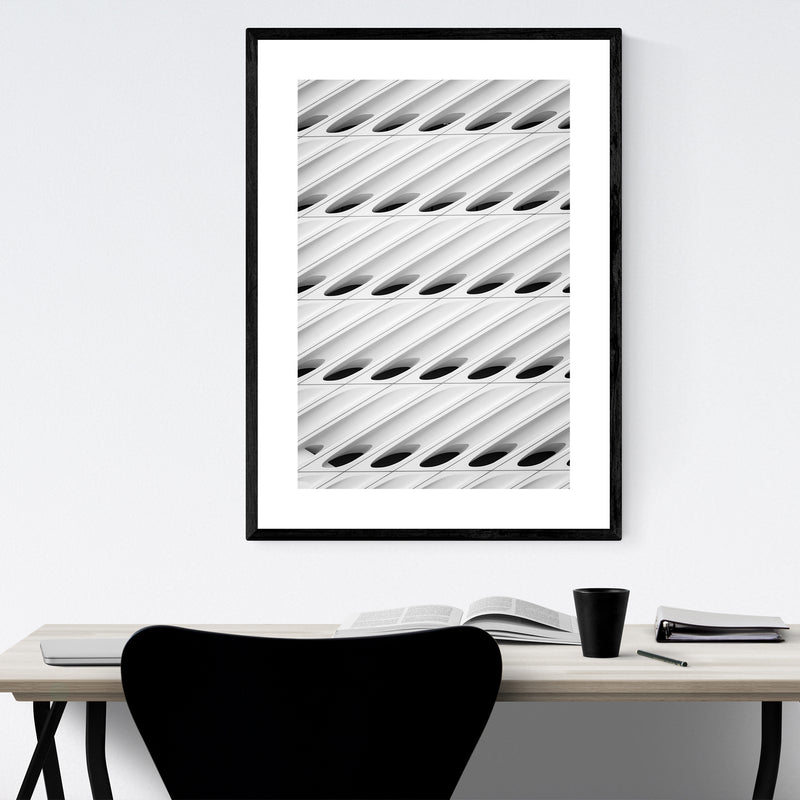 Architecture Abstract Los Angeles Framed Art Print