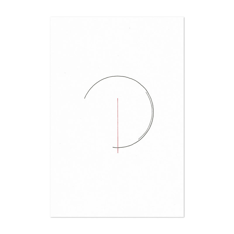Abstract Minimal Circles Line Drawing Art Print