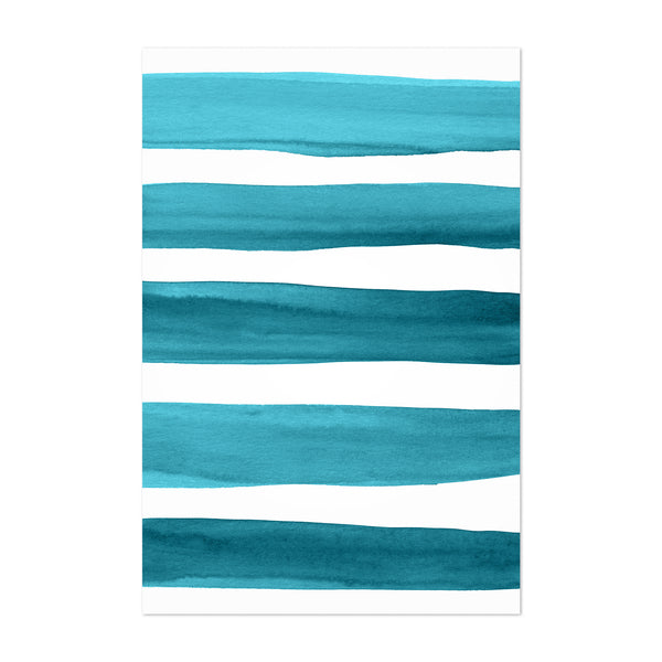 Minimal Brush Strokes Painting Art Print