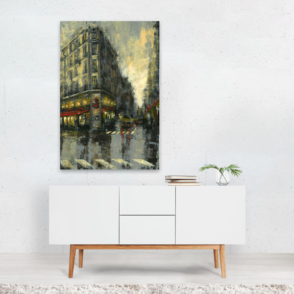 Paris France Bistro Painting Art Print