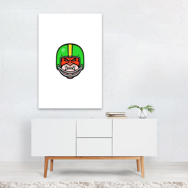 Bulldog American Football Mascot Art Print