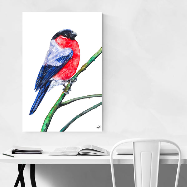 Animal Birds Winter Painting Art Print