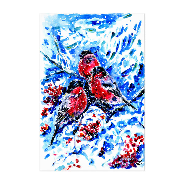 Animal Winter Painting Art Print