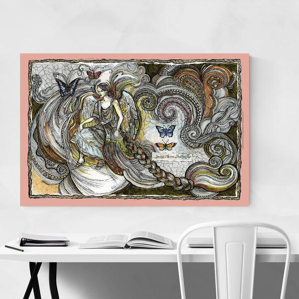 Butterfly Angel Fantasy Feminine Art Print
