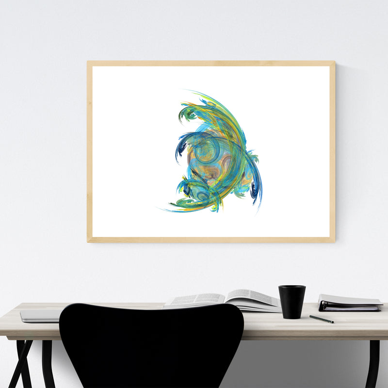 Abstract Colorful Nature Design Framed Art Print