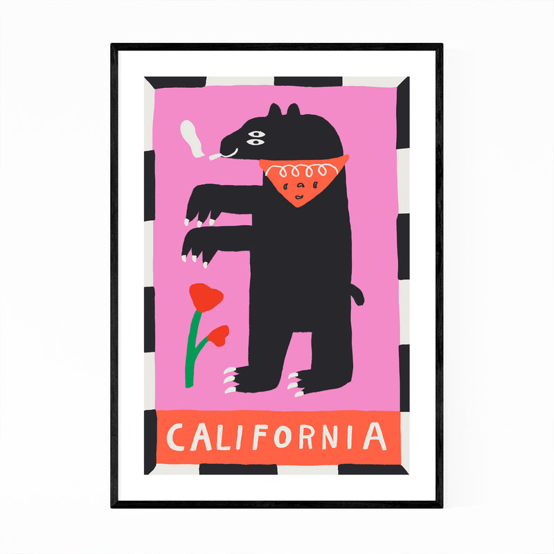 California State Flag Framed Art Print
