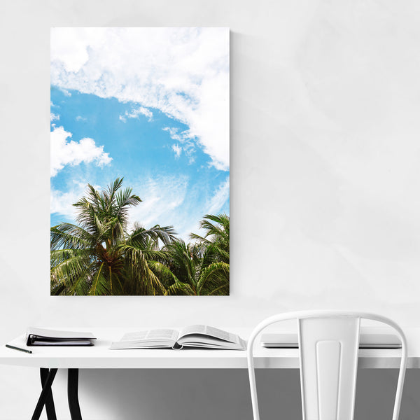Palm Trees Coastal Thailand Nature Art Print