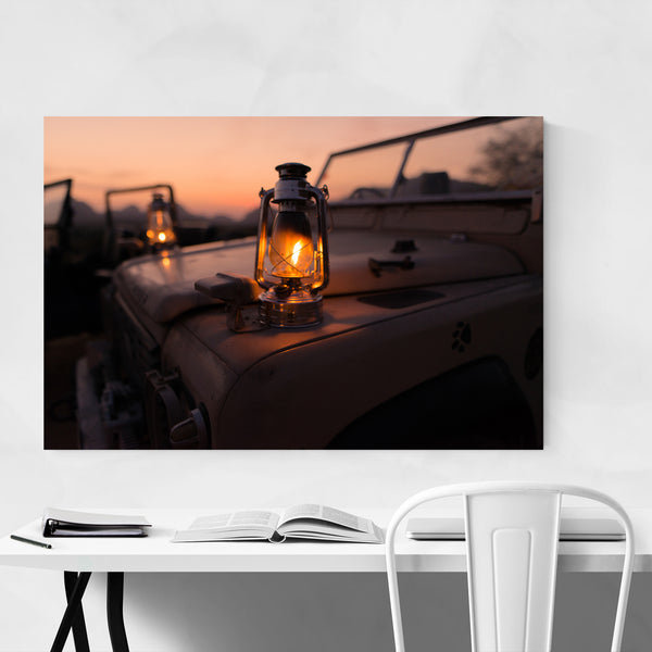 Lantern Camping Outdoors  Art Print