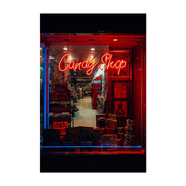 Candy Shop Neon Sign Los Angeles Art Print