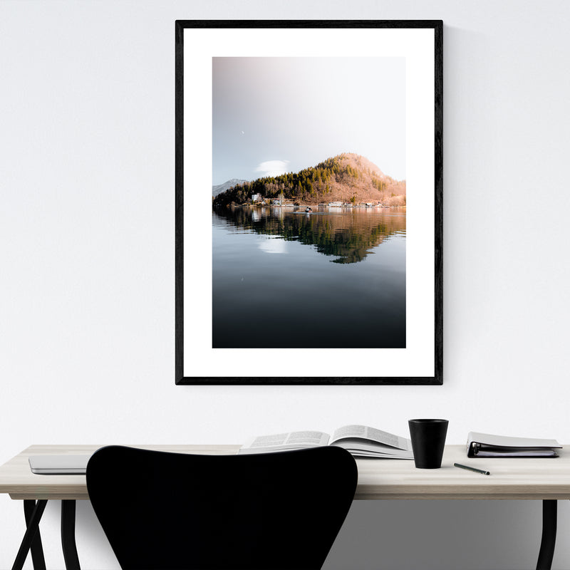Lake Bled Slovenia Nature Photo Framed Art Print