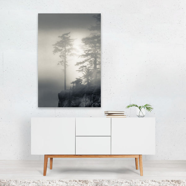 Oregon Beach Fog Nature Photo Art Print
