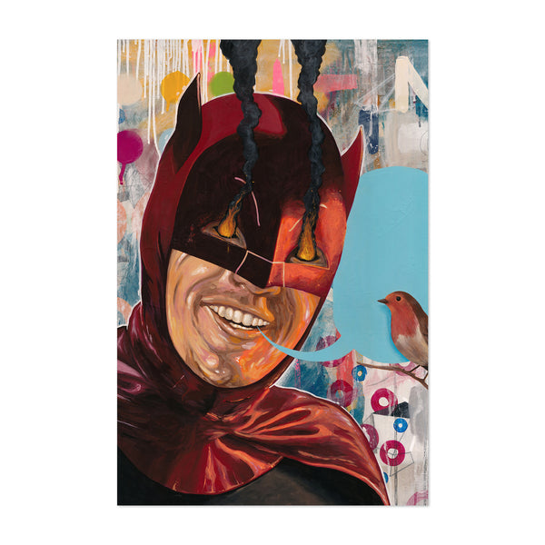 Batman Adam West Movies Culture Art Print
