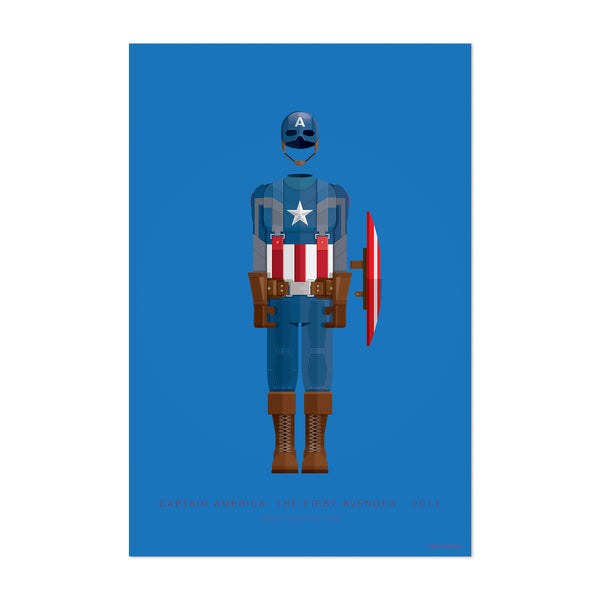 Captain America Movie TV Illustration Art Print