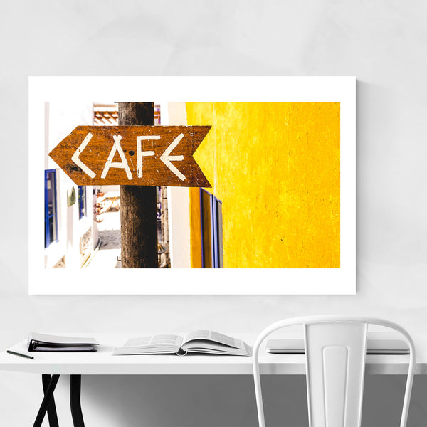 Cafe Sign Batangas, Philippines Art Print