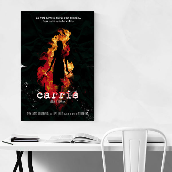 Carrie movie poster Art Print